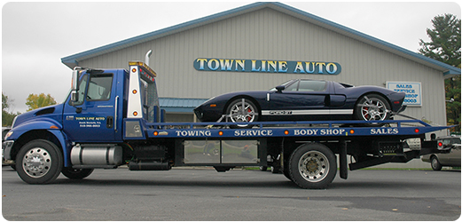An outside view of Townline AUto