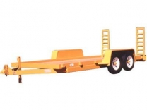 2014 CAR-MATE 6X16 Skid Steer Equipment Trailer
