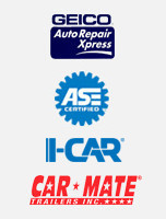 Geico Auto Repair Xpress | I-Car | ASE Certified | Car Mate Trailers